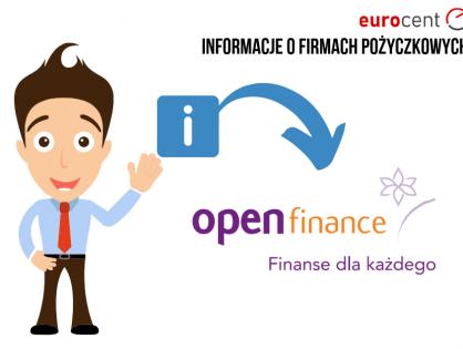 Open Finance oferta -  najważniejsze informacje na temat pożyczkodawcy